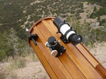 Telescope Finders on Wooden Tube