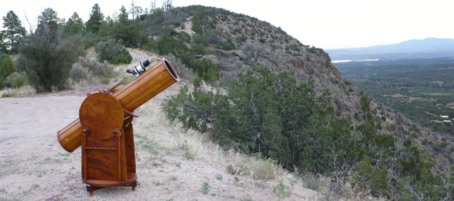 Wooden telescope overlooking Rio Grande Valley