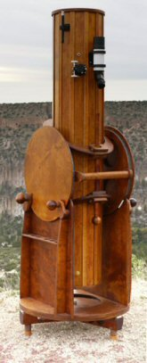 Wooden Telescope Vertical