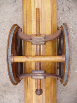 Wooden telescope tube clamp top view.JPG